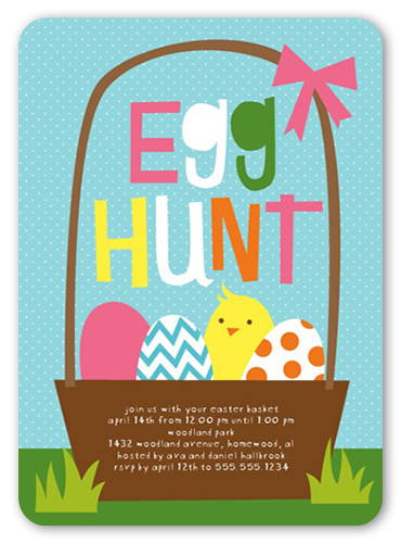 Egg Hunt Easter Party Invitations Shutterfly