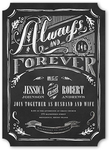 Always Amp Forever 5x7 Stationery Card By Pottsdesign