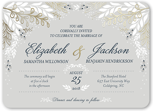 Affectionate Floral 5x7 Wedding Invitations Shutterfly