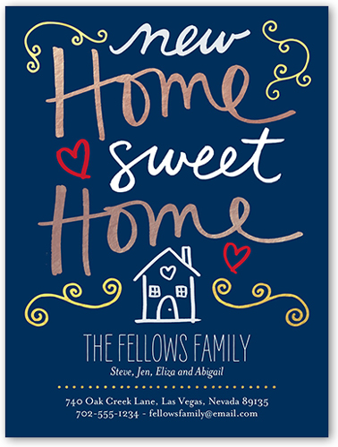 New Home Sweet Home 4x5 Moving Announcements Shutterfly