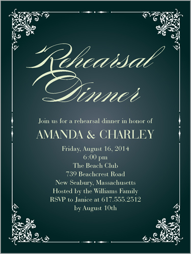 Regal Rehearsal Dinner Invitation Shutterfly