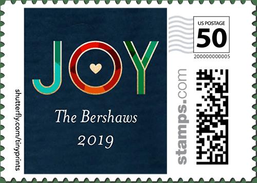 vibrant joy large postage