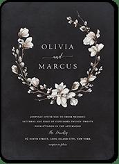 black wedding invitations shutterfly
