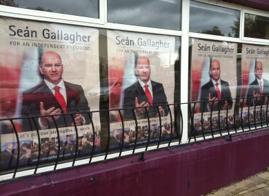 seán gallagher pledges poster