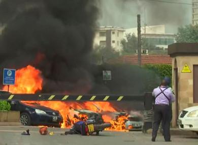 The scene in Nairobi
