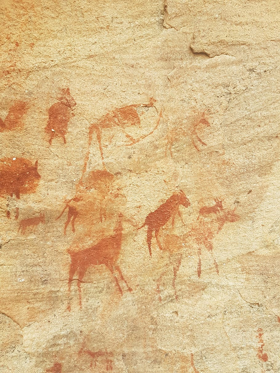 Hd Wallpaper Rock Art Painting Africa Ancient Stone Bushman Old Art And Craft Wallpaper Flare