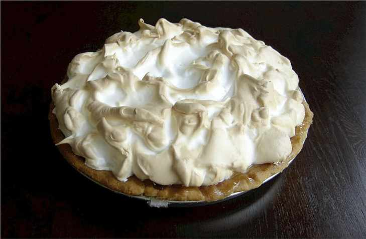 baked pie with whip cream, key lime, dessert, food, meringue, HD wallpaper