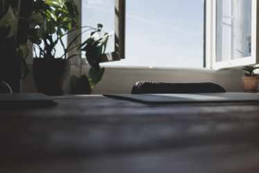 HD wallpaper: brown wooden table top green leaf plants window desk light Wallpaper Flare