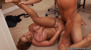 Busty Redhead Cougar Fucking On A Floor