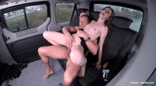Czech Teen Riding Taxi Divers Cock