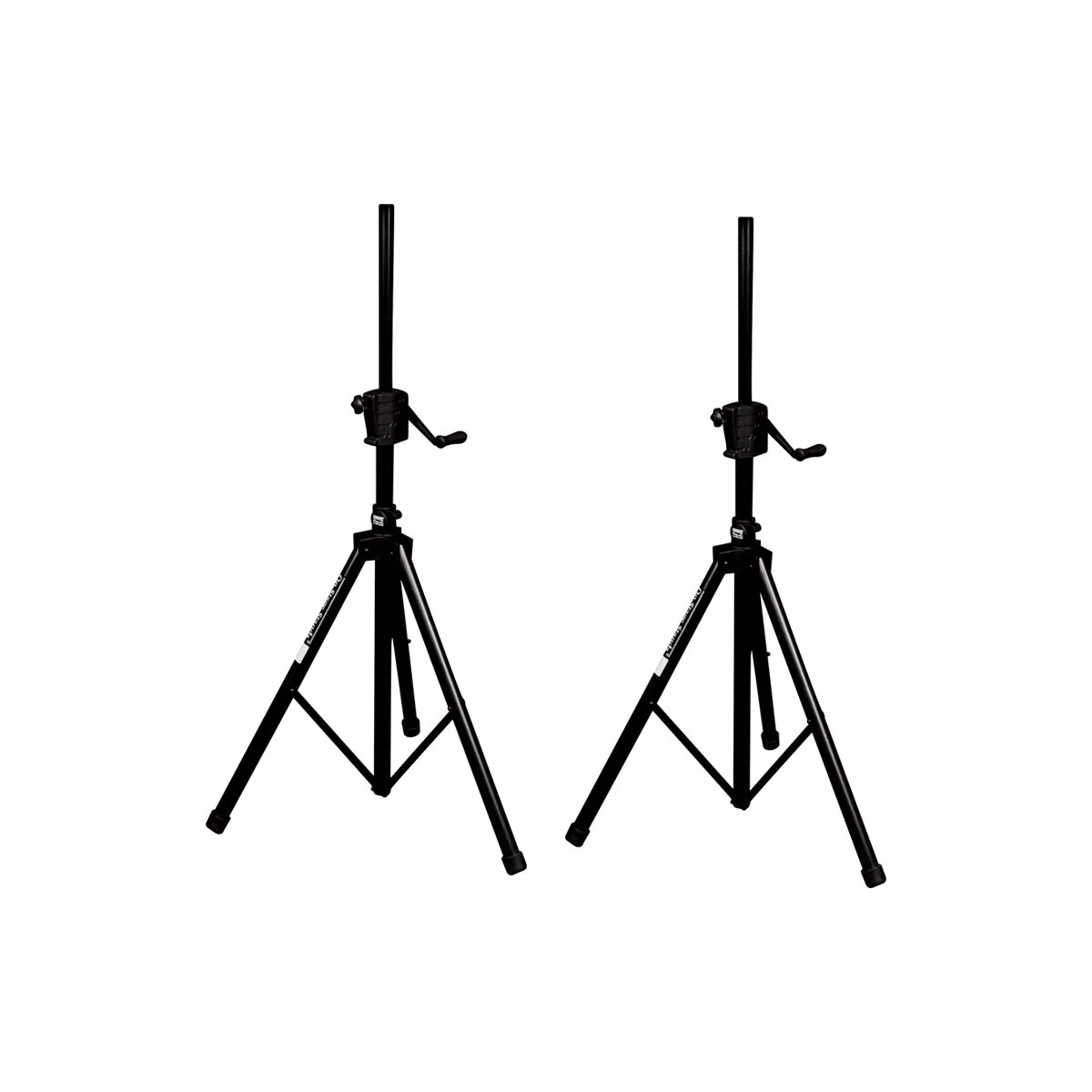 On-Stage SS8800B Plus Power Crank Up Speaker Stand, 2-Pack