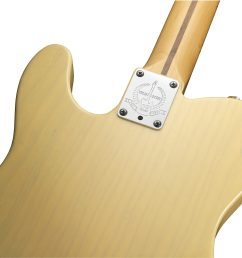 fender 60th anniversary telecaster electric guitar maple with case blackguard blonde  [ 2018 x 1718 Pixel ]