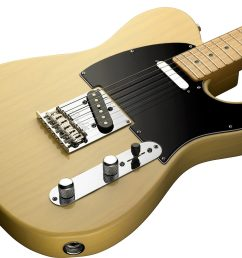 fender 60th anniversary telecaster electric guitar maple with case blackguard blonde  [ 2018 x 1459 Pixel ]