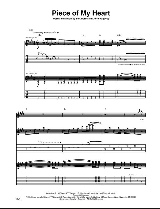 Janis Joplin Piece Of My Heart : janis, joplin, piece, heart, Piece, Heart, Guitar, ZZounds