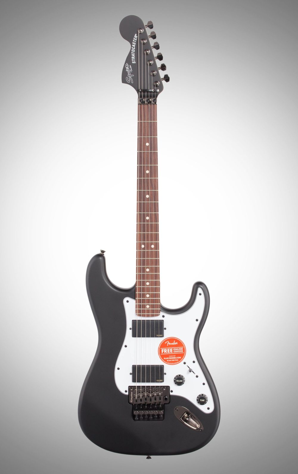 medium resolution of squier contemporary active stratocaster hh electric guitar flat black full straight front