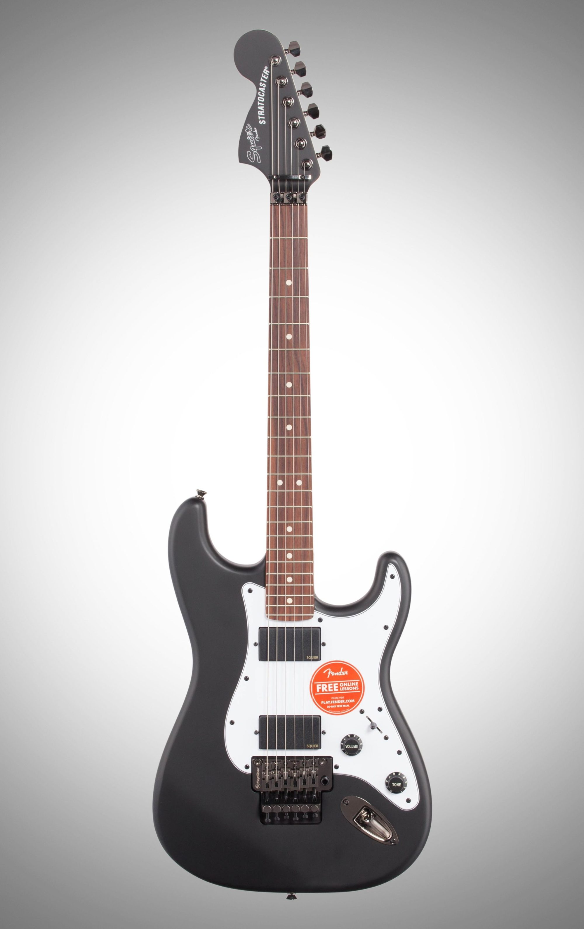 hight resolution of squier contemporary active stratocaster hh electric guitar flat black full straight front
