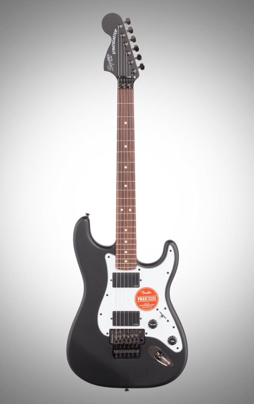 small resolution of squier contemporary active stratocaster hh electric guitar flat black full straight front