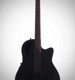 ovation 1778tx elite t series mid depth bowl acoustic electric guitar black  [ 2012 x 3200 Pixel ]