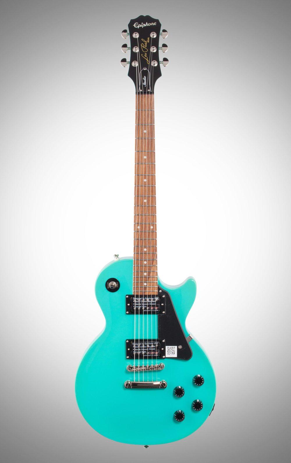 medium resolution of turquoise epiphone les paul studio electric guitar