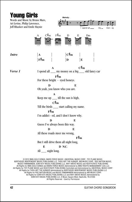 Beautiful Girl Chord : beautiful, chord, Young, Girls, Guitar, Chords/Lyrics, ZZounds