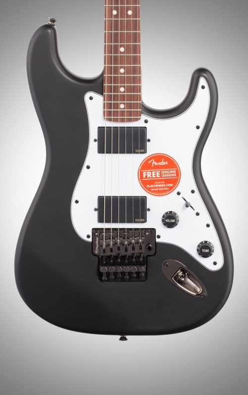 small resolution of squier contemporary active stratocaster hh electric guitar flat black body straight front
