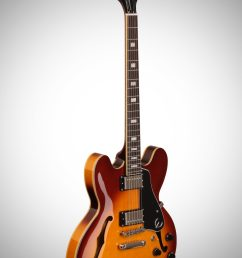 body epiphone exclusive limited edition es 335 pro electric guitar ice tea burst  [ 2012 x 3200 Pixel ]