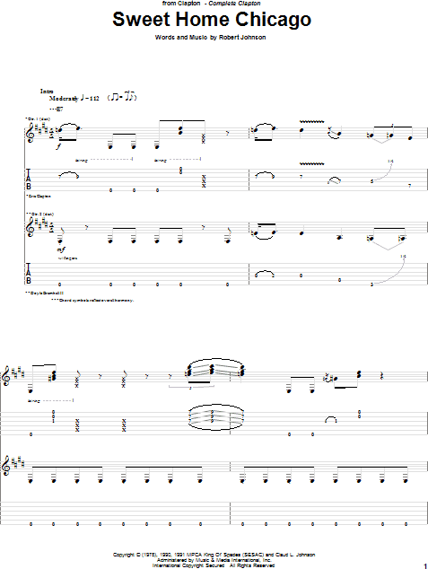 Dec 17, 2015· written by robert johnson and recorded by foghat, a ferocious cover of robert johnson's sweet home chicago, from the 1978 album stone blue. Sweet Home Chicago Guitar Tab Zzounds
