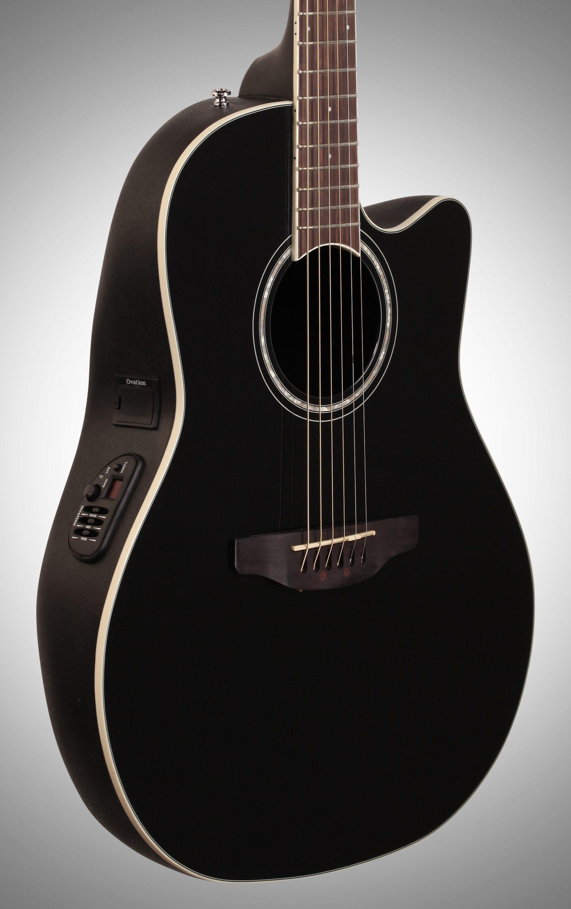 hight resolution of  ovation cs24 celebrity standard acoustic electric guitar black full left front