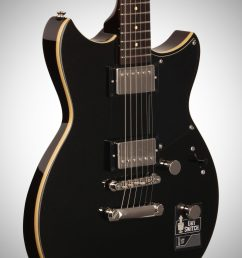 yamaha revstar rs420 electric guitar black steel full left front  [ 2012 x 3200 Pixel ]