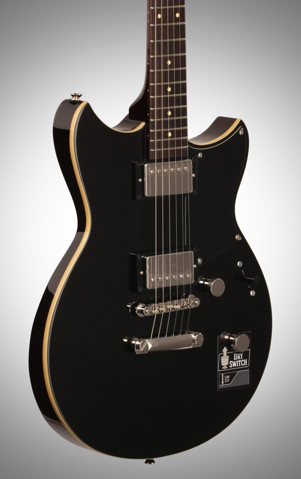 medium resolution of  yamaha revstar rs420 electric guitar black steel full left front