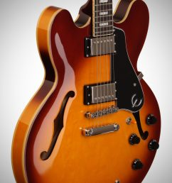 full epiphone exclusive limited edition es 335 pro electric guitar ice tea burst  [ 2012 x 3200 Pixel ]