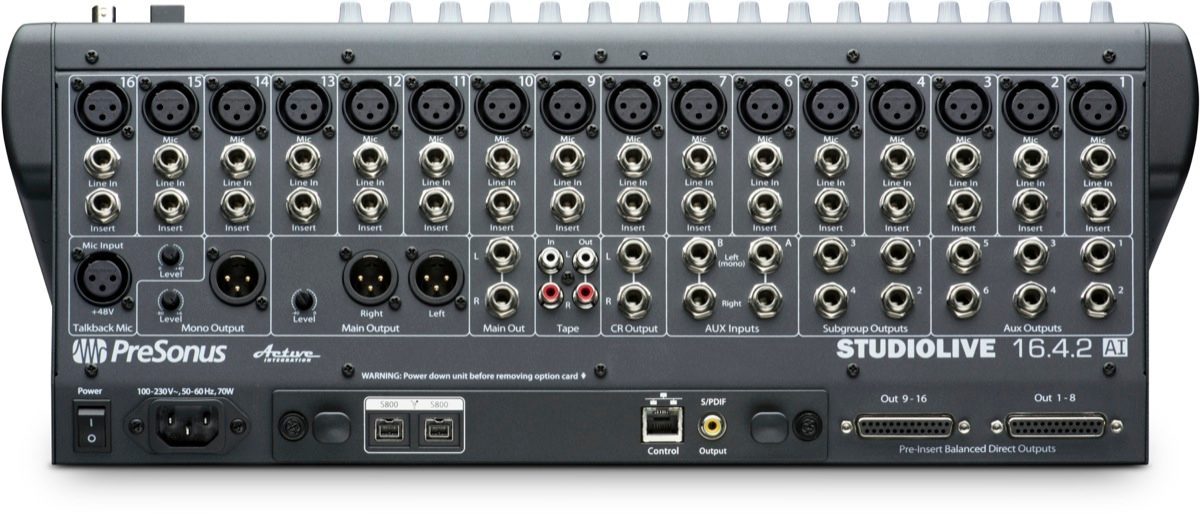 PreSonus StudioLive 1642AI Digital Mixer 16Channel