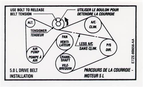 95 Mustang Serpentine Belt Diagram
