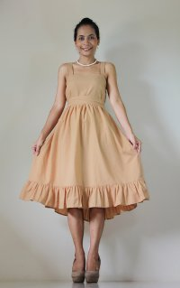 Short Bridesmaid Dress Light Brown Prom Party Cocktail ...