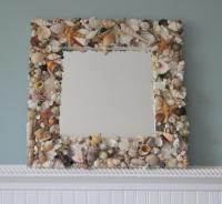 Beach Decor Shell Mirror - Nautical Decor Natural Seashell ...