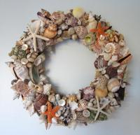 Beach Decor Seashell Wreath - Nautical Decor Shell Wreath ...