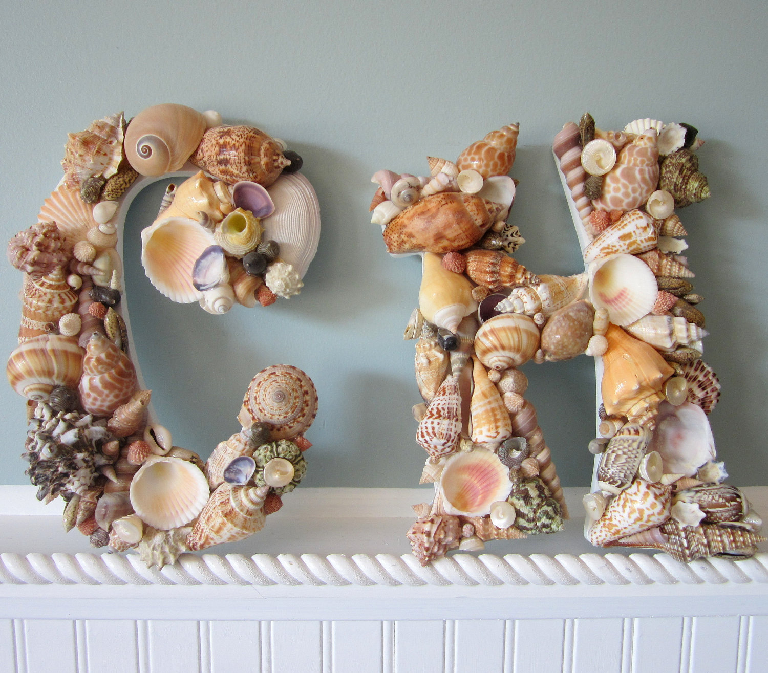 Shell Letters For Beach Decor  Any (2) Nautical Decor