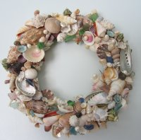 Seashell Wreath For Beach Decor - Nautical Decor Shell ...