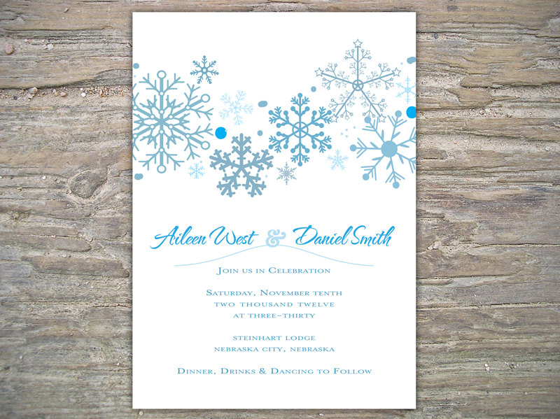 Winter Invitation Snowflakes DIY On Luulla