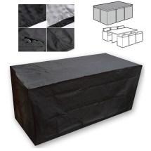 Black Waterproof Patio Furniture Cover Outdoor Garden