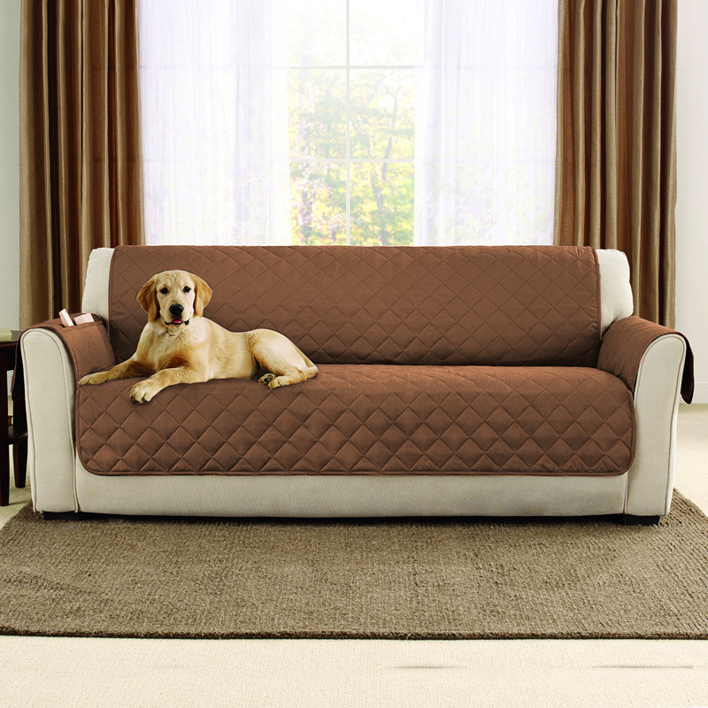 waterproof pet protector sofa cover cord bed softline universal 1-3 seater quilted couch slip ...