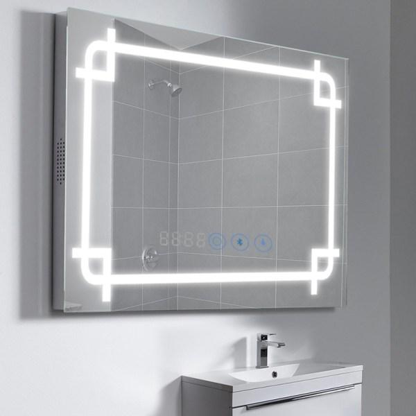 Led Illuminated Bathroom Mirror Bluetooth Shaver Sensor