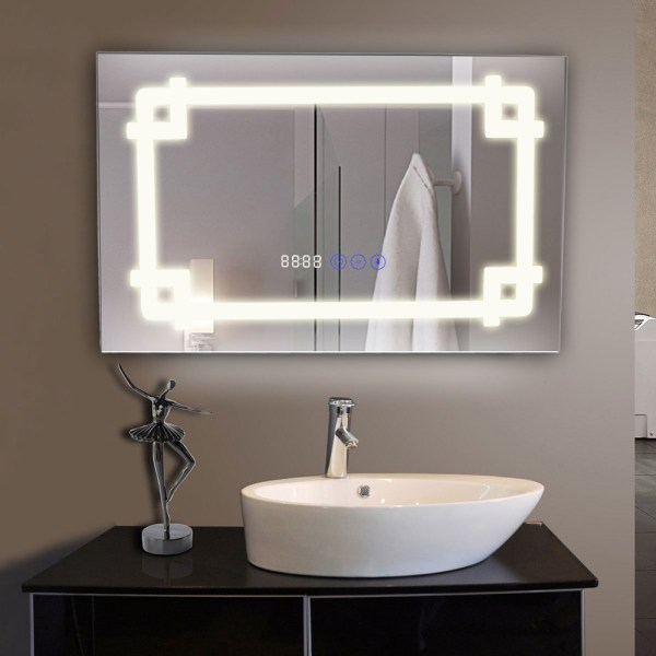 Bluetooth Bathroom Light Mirrors Demister With
