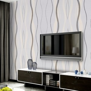 living wall grey bedroom tv background feature stripe modern striped designs textured decor 3d wave decoration 10m gray curve woven
