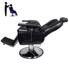 Hydraulic Hair Styling Chairs Classic Leather Chair Deluxe Adjustable Barber Reclining Salon