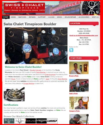 Swiss Chalet Timepieces Boulder