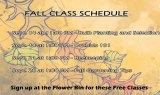 Flower Bin's Fall Class Schedule