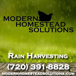 Modern Homestead Solutions - Rain Harvesting