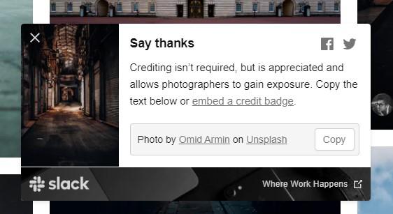 ダウンロード中のメッセージ「クレジット表記は必要ないけど、可能であれば投稿者情報を表示してあげてね」