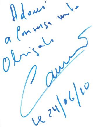 Autografo camané